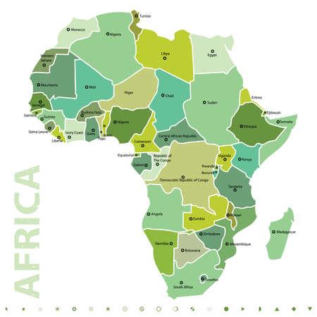 Afrika  Vector Illustratie