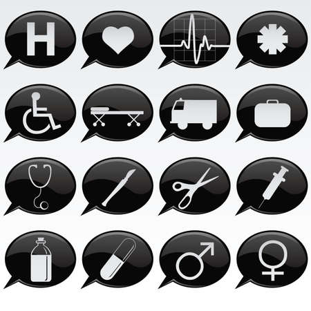 medical icons Stock Vector - 7414547