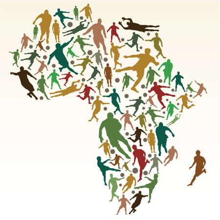 2010 年南アフリカ  イラスト・ベクター素材