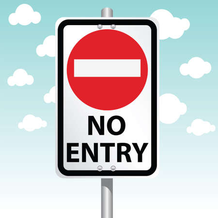 no entry: no entry Illustration
