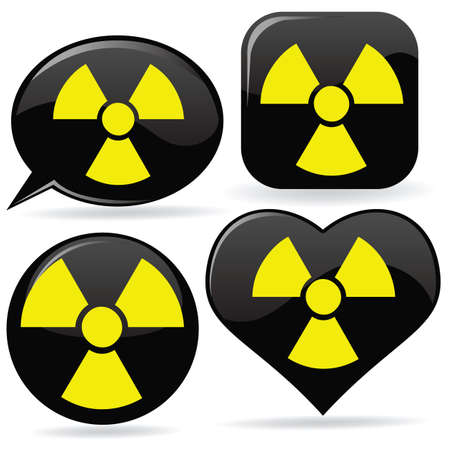 isotope: set of radioactive signs Illustration