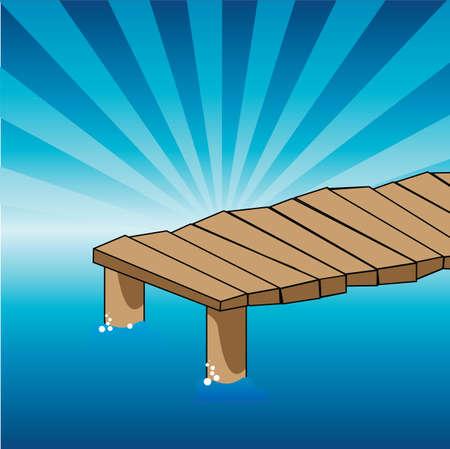 桟橋  イラスト・ベクター素材