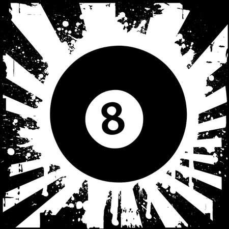 8 ball: billiard ball