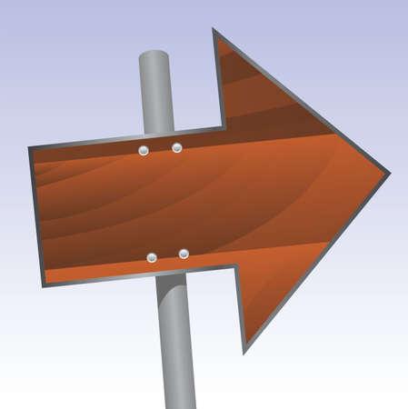 wooden signpost Stock Vector - 7414773
