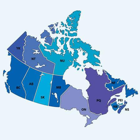カナダのベクトル地図  イラスト・ベクター素材