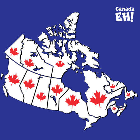 vector map of canada Stock Vector - 7414779