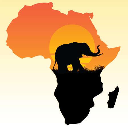アフリカ  イラスト・ベクター素材