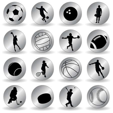 handball: sport icons Illustration