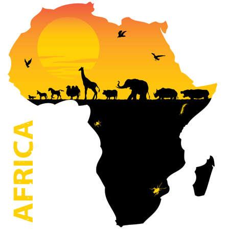 mapa de africa: Africa