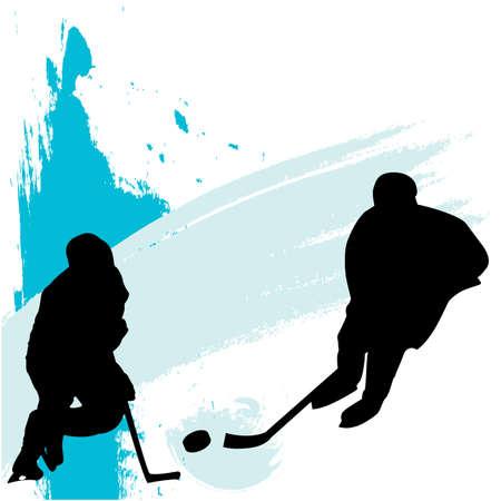 hockey cesped: jugadores de hockey sobre hielo  Vectores