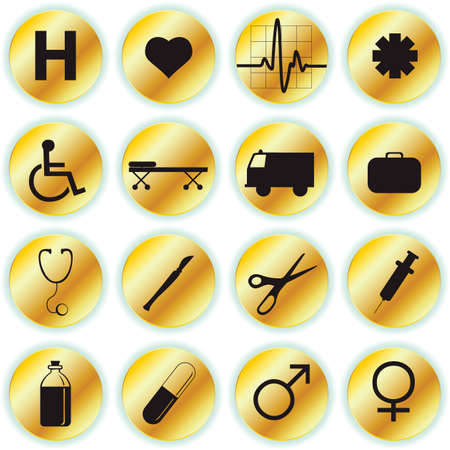 medical icons Stock Vector - 7433780