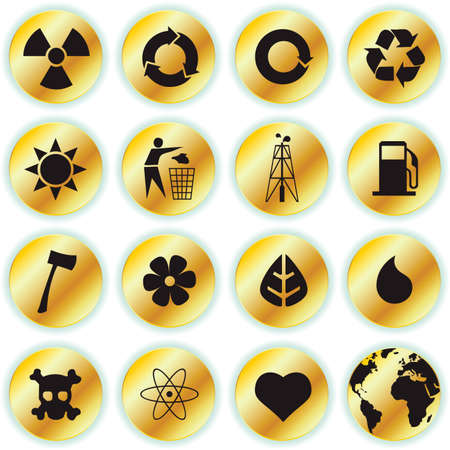 environmental icons Stock Vector - 7433783