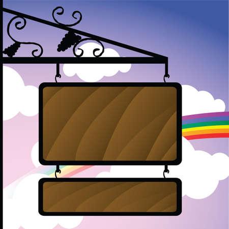wooden signboard Stock Vector - 7433767