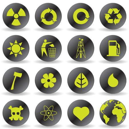 antipollution: iconos de medio ambientales