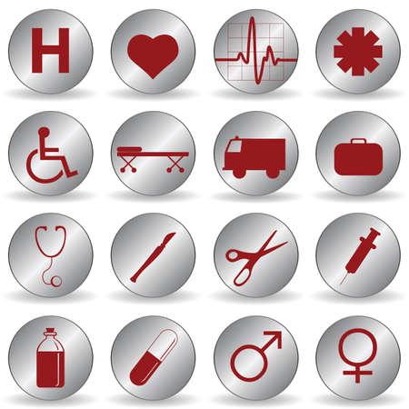 pastillas: iconos de m�dicos