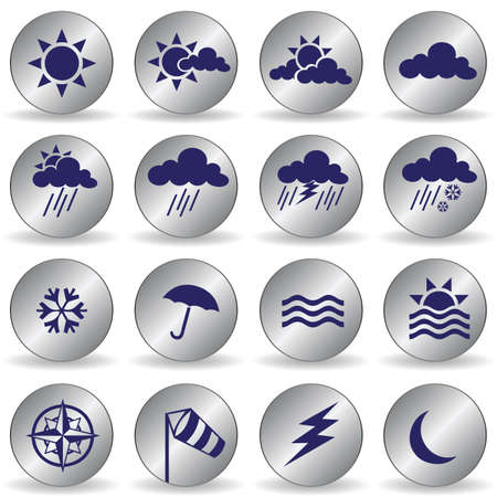weather icons Stock Vector - 7469854