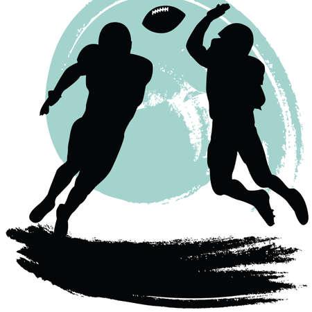 nfl football: football players Illustration