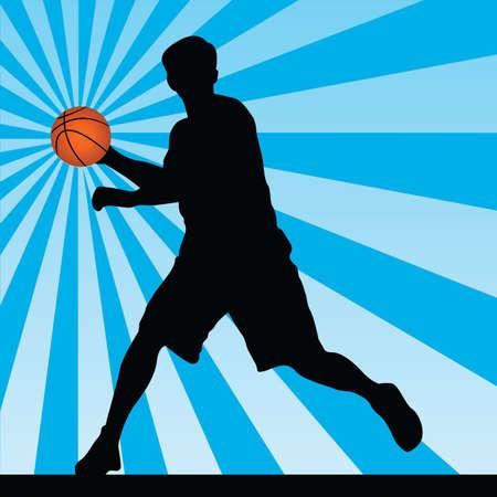 sports equipment: basketball player