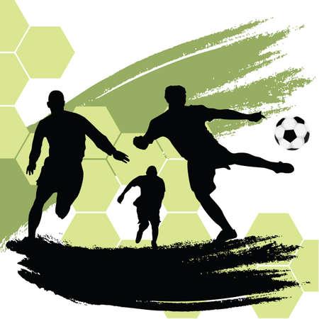 soccer fields: soccer players Illustration