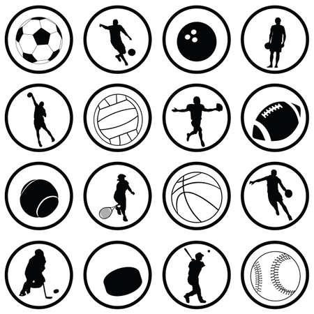 icônes de sport  Illustration