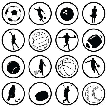 sport icons Stock Vector - 7643879