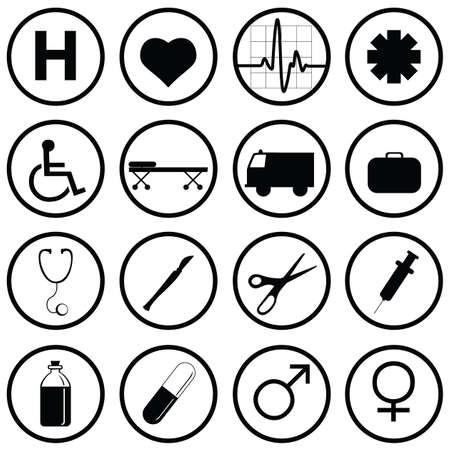 medical icons Stock Vector - 7643868