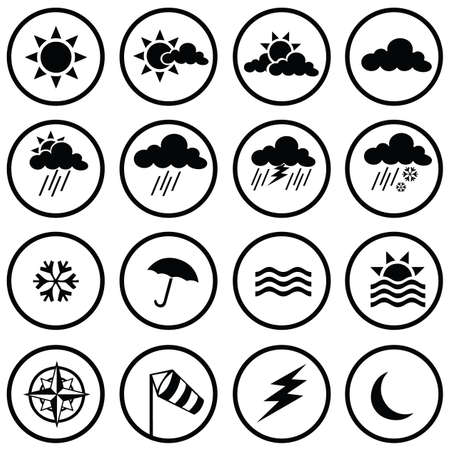 sun drop: weather icons