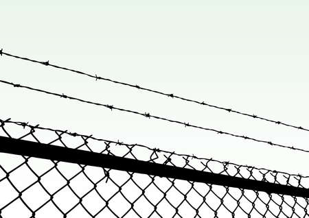 trespass:  fence Illustration