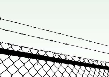 barb:  fence Illustration