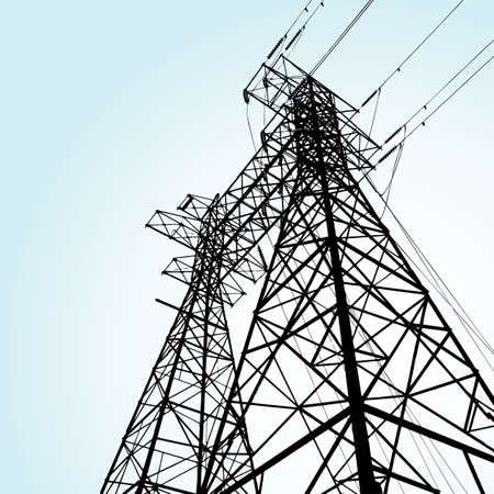 transmission tower Stock Vector - 7643880