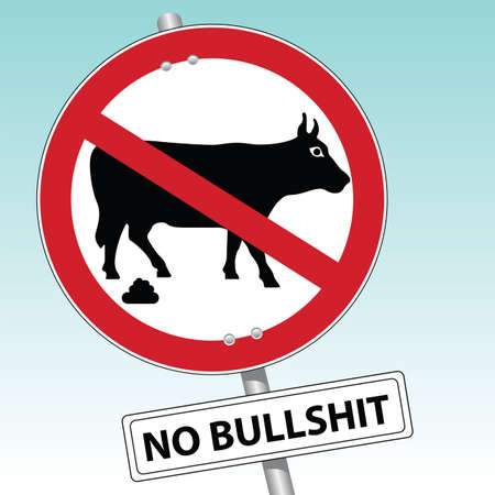 no bullshit Stock Vector - 7643816
