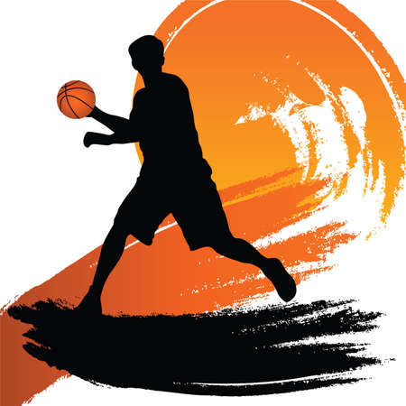 basket bal speler  Stock Illustratie