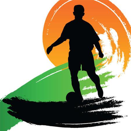 soccer player Stock Vector - 7643881