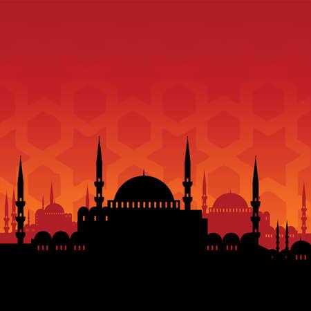 turkey istanbul: mosque Illustration
