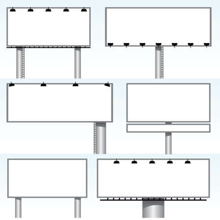 billboard posting: billboards Illustration
