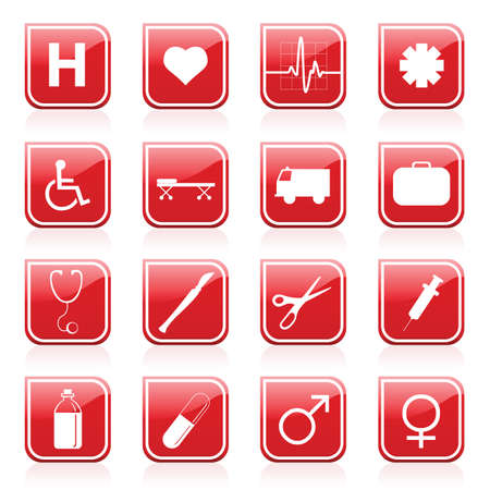 medical icons Stock Vector - 7643840