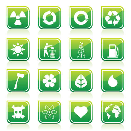 environmental icons Stock Vector - 7643852