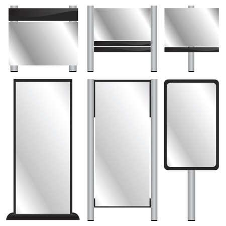 vector set of blank billboards Banco de Imagens - 7860560