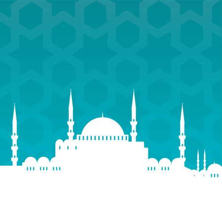 islamic ramadan: mosque Illustration