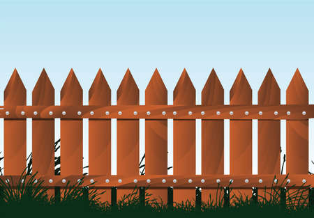 wooden fence Stock Vector - 7860572