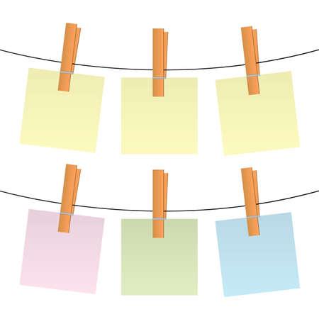 laundry line: notas en blanco