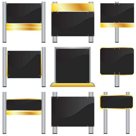 vector set of blank billboards Banco de Imagens - 7860568