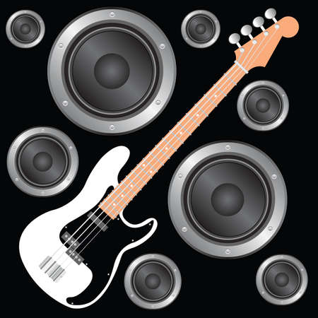 vector bass guitar Stock Vector - 7860570