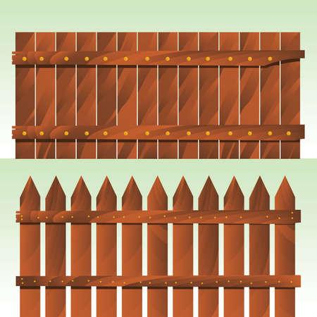 wooden fences: wooden fences Illustration