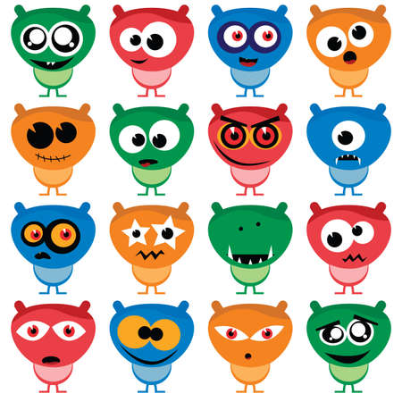 cute aliens Stock Vector - 7965277