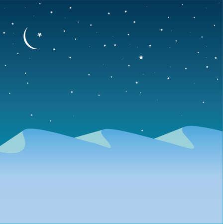 тундра: arctic mountains Иллюстрация