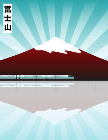 mount fuji Stock Illustratie