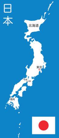 japanese map Vector