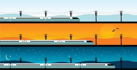 locomotora: tren bala Vectores