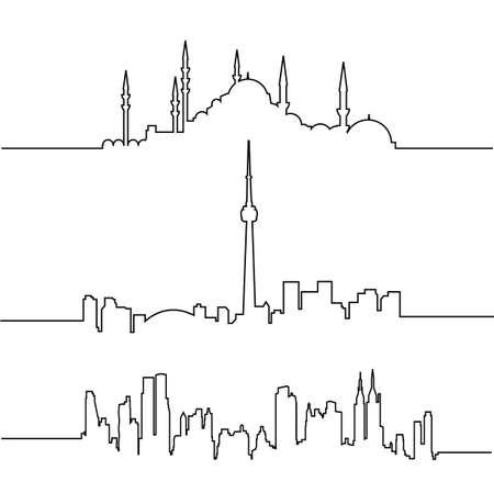 Manhattan Skyline: cityscapes